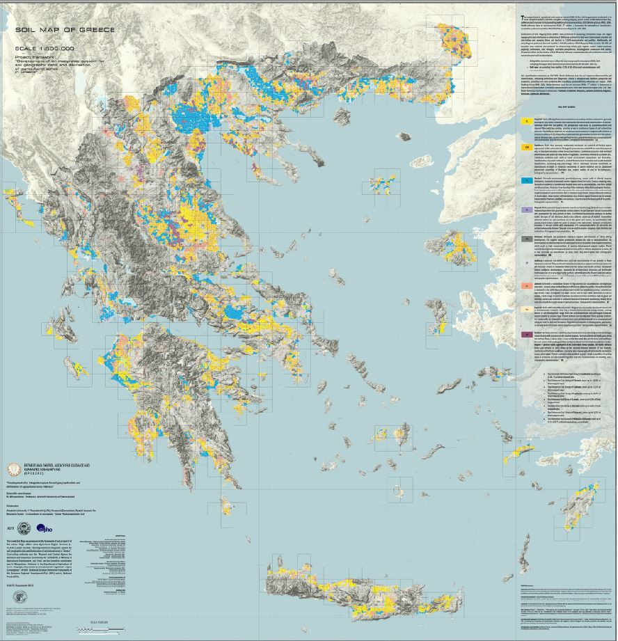 Soil Map of Greece